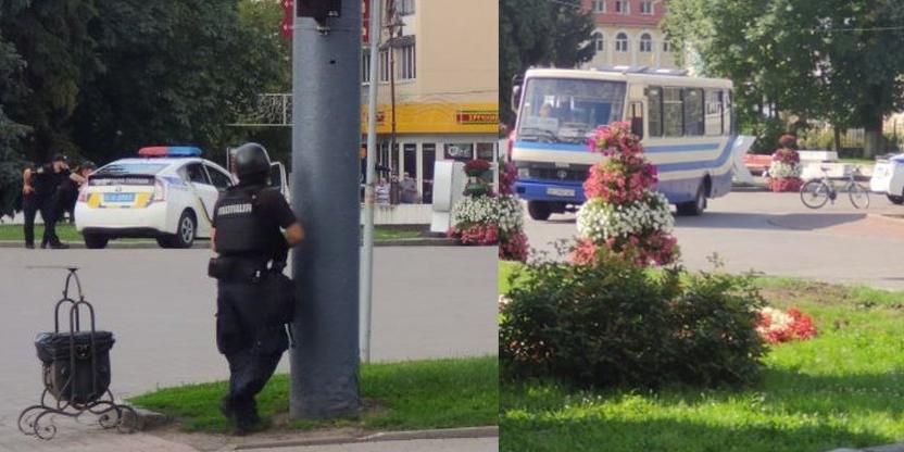 На Украине вооруженный мужчина захватил автобус с 20 пассажирами