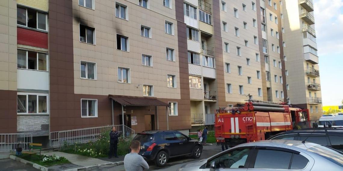 В Новосибирске сняли необычные кадры спасения детей из горящей квартиры