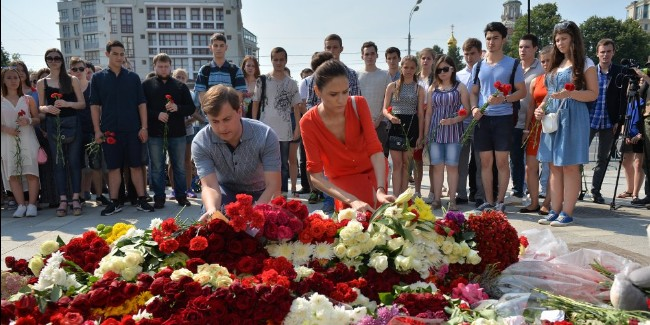 В Москве прошла траурная акция в память о погибших в Ницце
