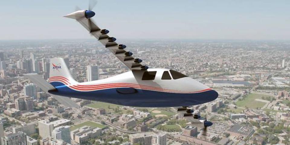 NASA представило электрический самолет