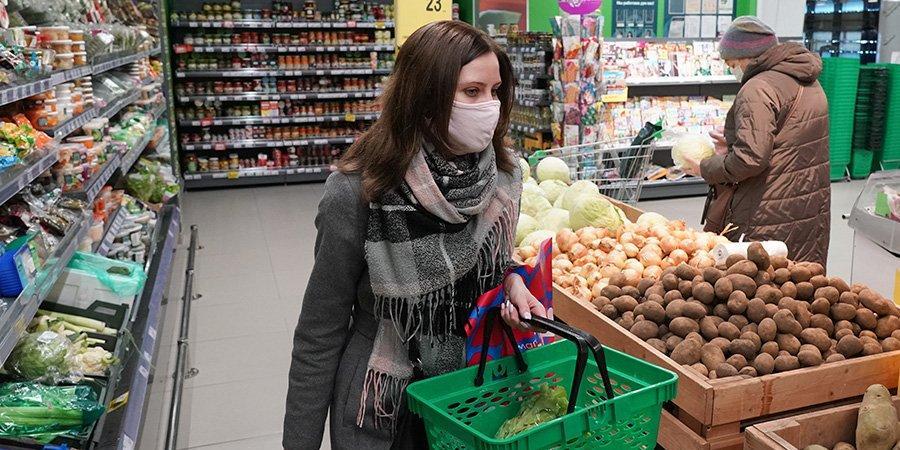 В Москве опровергли данные об ажиотажном спросе на продукты
