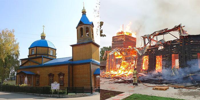 Под Томском сгорел деревянный храм XIX века
