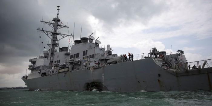 В США заявили об отсутствии следов кибератаки в аварии с эсминцем