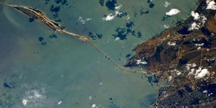 Космонавт опубликовал фото Крымского моста с борта МКС