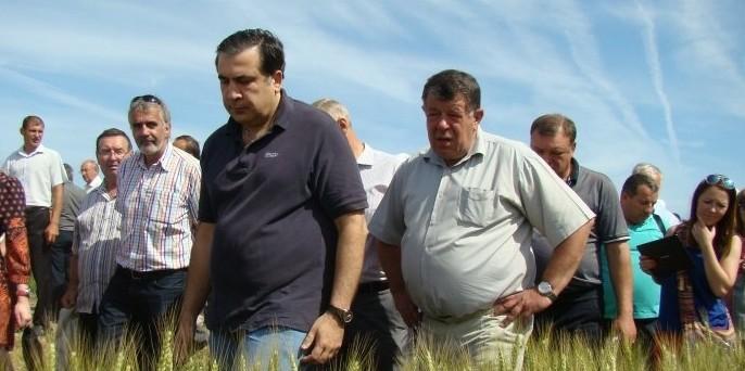Саакашвили проинспектировал Одесскую область в компании Собчак