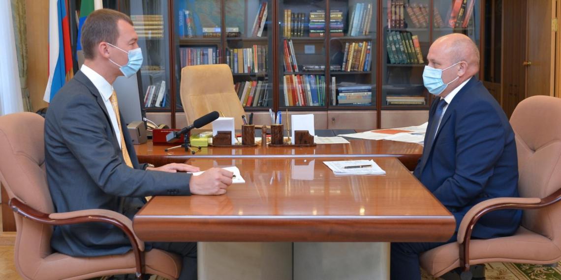 Дегтярёв провёл рабочую встречу с мэром Хабаровска
