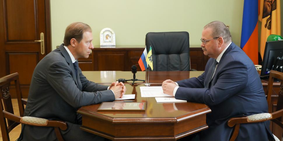 Денис Мантуров и Олег Мельниченко обсудили вопрос продвижения продукции пензенских предприятий на экспорт