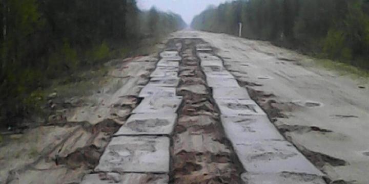В Томской области украли участок единственной дороги между поселками
