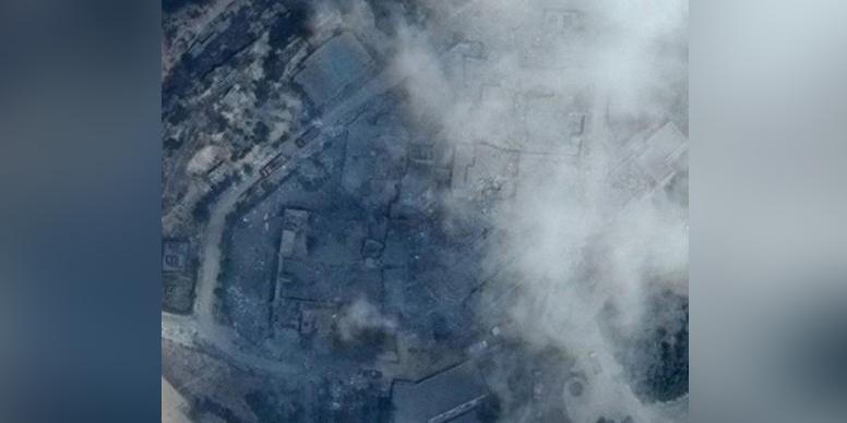 Опубликованы спутниковые фото последствий удара по Сирии