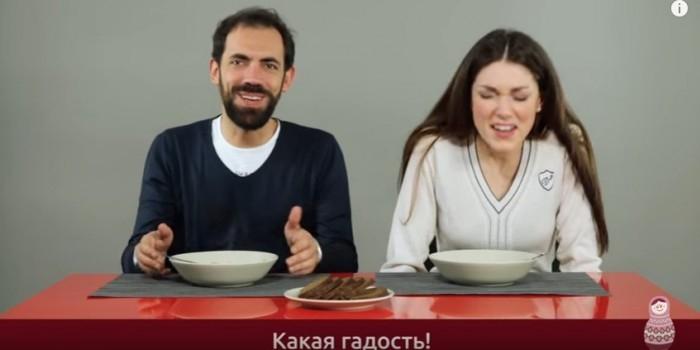 Видео дня: итальянцам дали попробовать русские супы