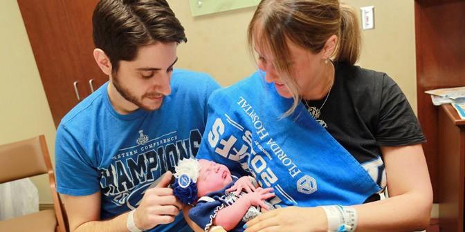 В США пара назвала дочь Никитой в честь российского хоккеиста