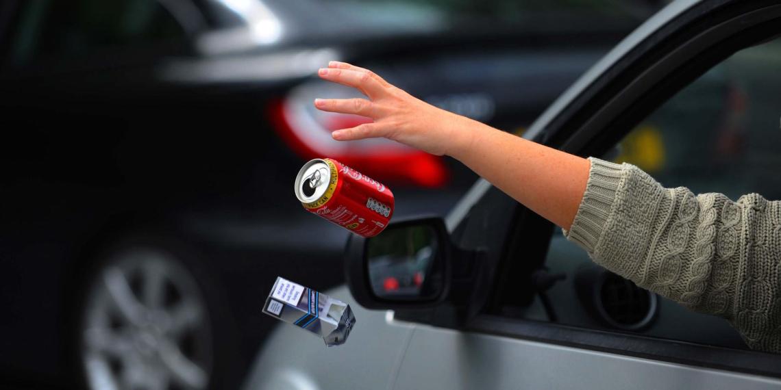 Правительство одобрило увеличение штрафов до 150 тысяч за выброшенный из автомобиля мусор