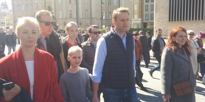 Полиция вывела Навального с митинга против реновации по просьбе организаторов