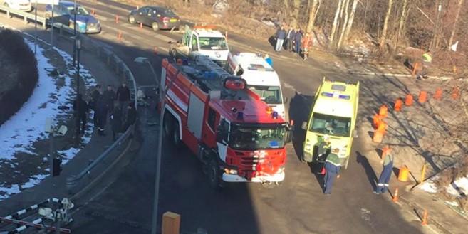 В Домодедово пожарная машина сбила девять человек