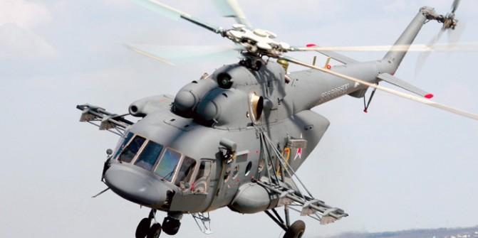 В Псковской области разбился военный вертолет Ми-8