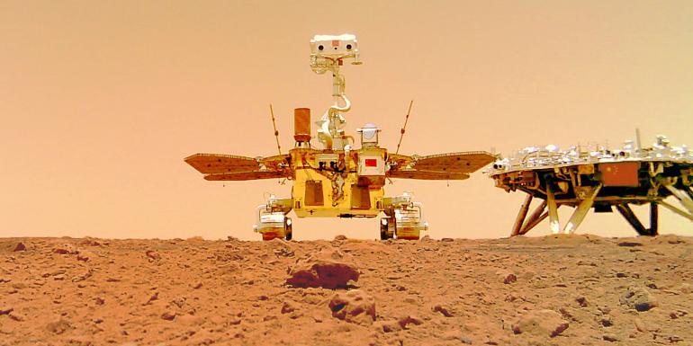 Китай показал новое видео с Марса