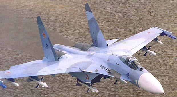 Российские истребители Су-27 надругались над американским авианосцем Кити Хок