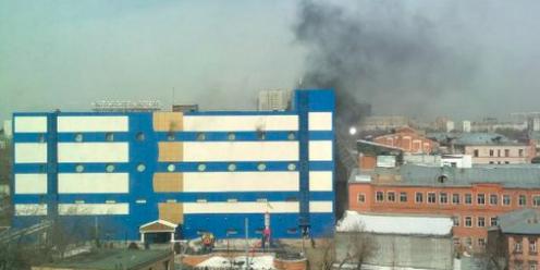 """В Москве горит ТЦ """"Персей для детей"""", есть пострадавшие"""