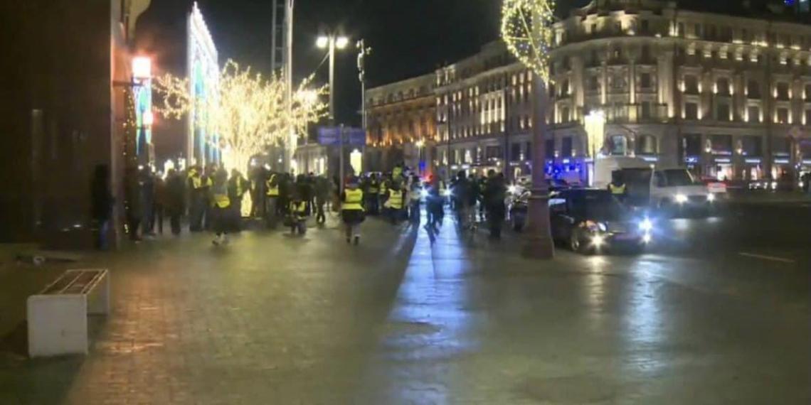 Незаконная акция в центре Москвы провалилась