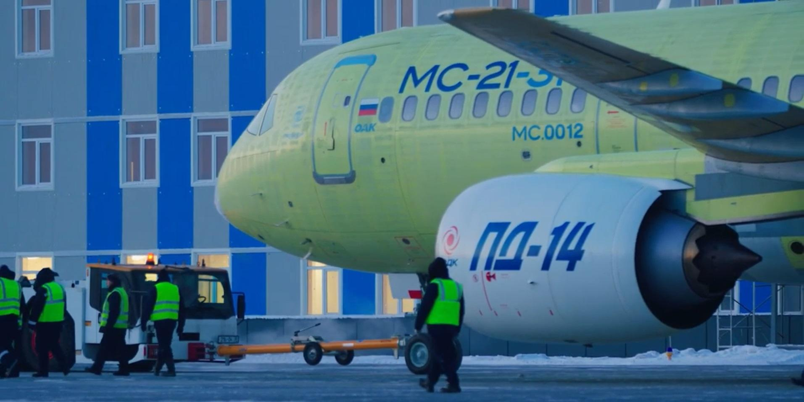 Новейший лайнер МС-21 впервые взлетел с российскими двигателями