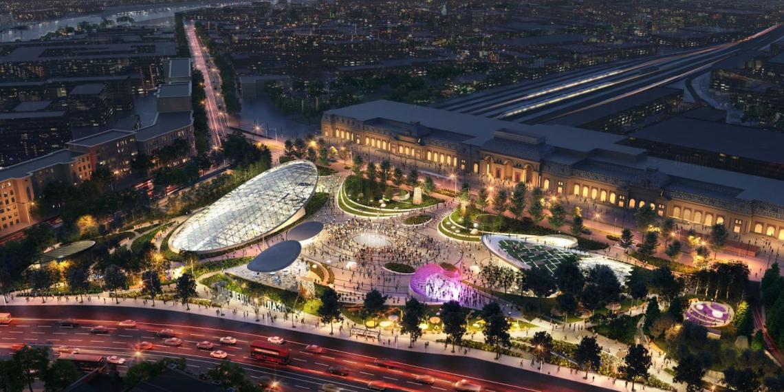 Новый ландшафтный парк на Павелецкой площади завершат уже этой осенью