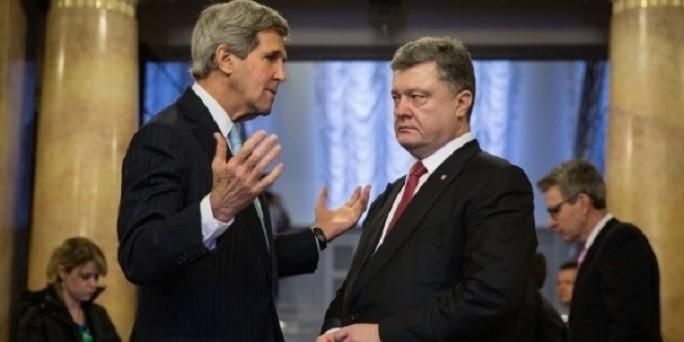 Украинские СМИ: Керри отчитался перед Порошенко о встрече с Путиным