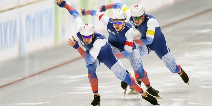 Российские конькобежцы заняли весь пьедестал Кубка мира в Канаде