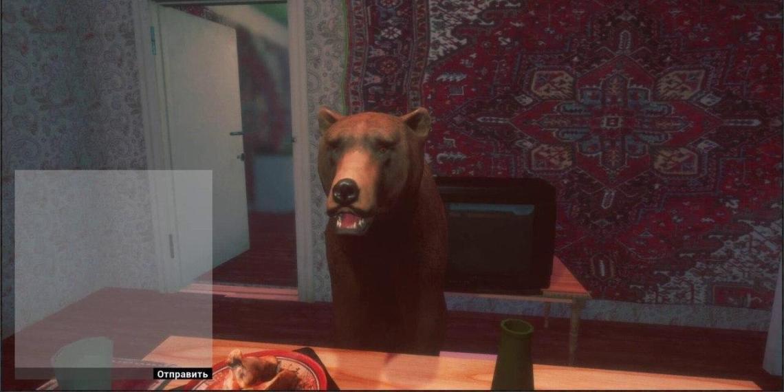 """Российские разработчики выпустят """"Симулятор бухания"""", в котором можно пить водку с медведем"""