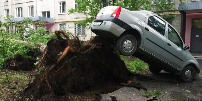 На Москву обрушился ураган: лучшие фото и видео из соцсетей