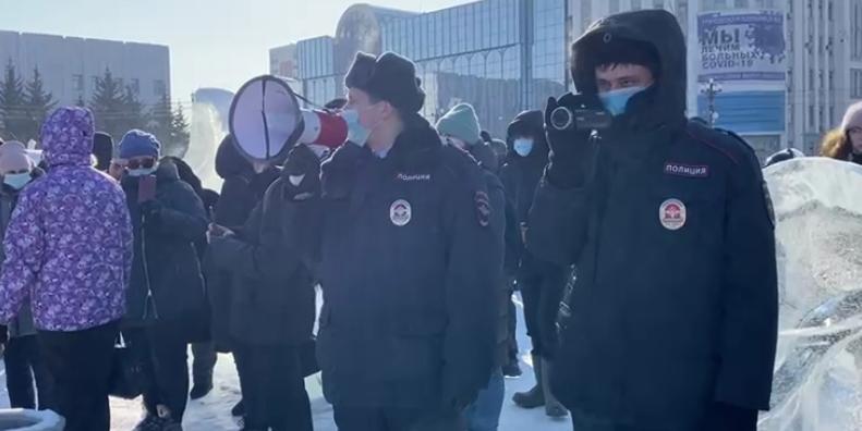 В городах Дальнего Востока провалились несанкционированные митинги