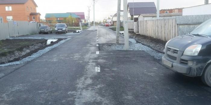 В Тюмени открыли дорогу с опорами освещения посредине проезжей части