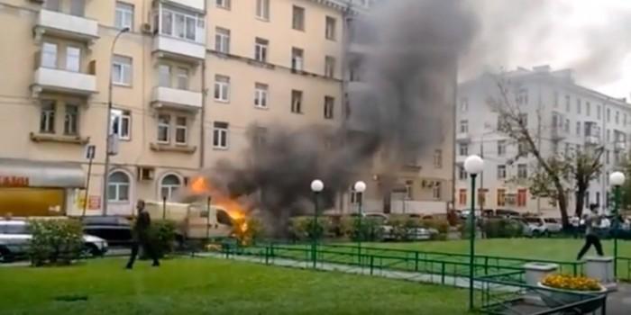 Опубликовано видео нападения на инкассаторов в Москве