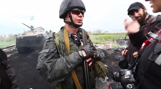 Итальянский наемник украинской армии на подступах к Краматорску?
