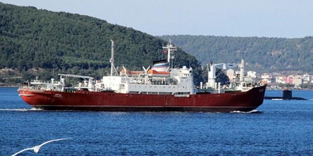 Транспорт ВМФ России встретился с турецкой подлодкой