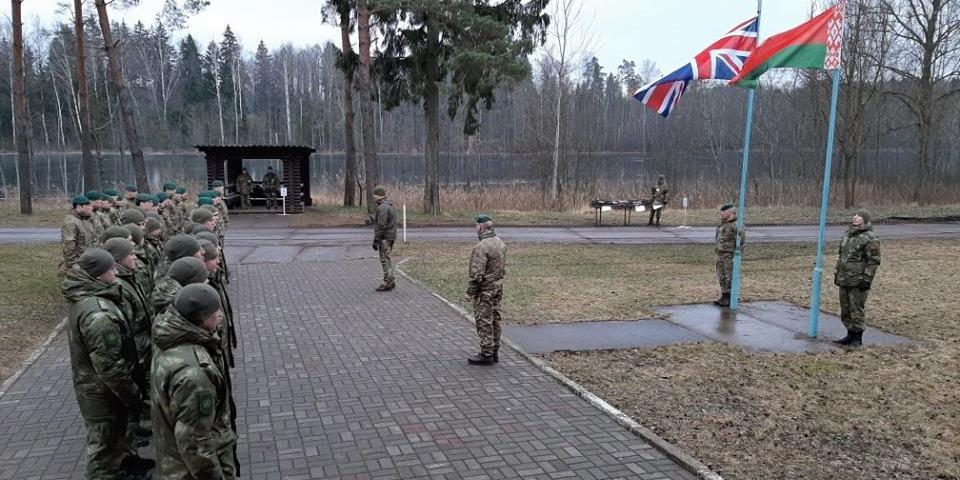 """На границе с Россией начались белорусско-британские военные учения """"Зимний партизан"""""""