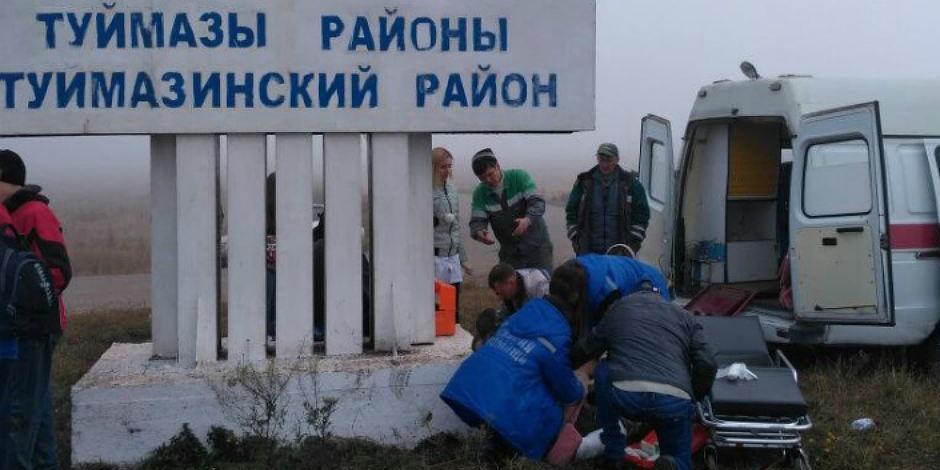 В Башкирии водитель без прав наехал на группу из 12 школьников