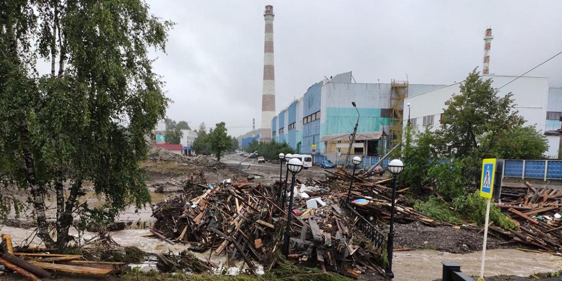 На Урале из-за дождей под воду ушел город