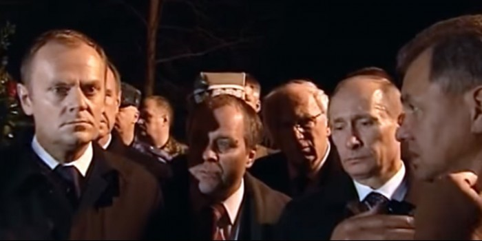 Польша рассекретила видео с Путиным на месте гибели Качиньского