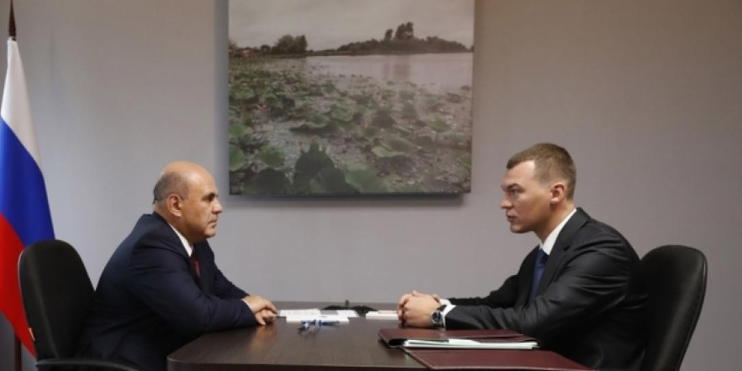 Премьер-министр РФ Михаил Мишустин провел рабочую встречу с Михаилом Дегтяревым