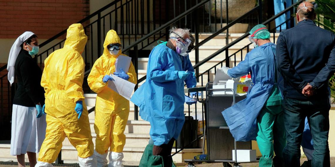 В Италии на фоне пандемии ожидают самую высокую смертность с 1944 года