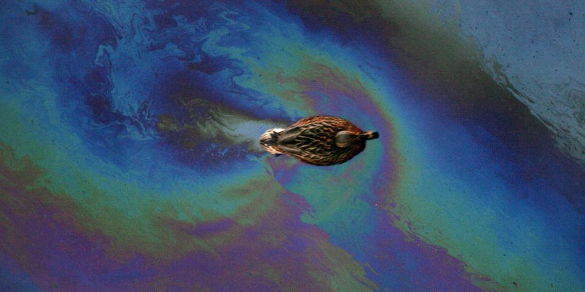 В России вновь произошел разлив нефтепродуктов