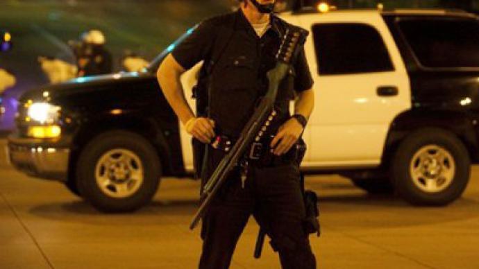 В США угонщик пытался спрятаться от полиции, выкрасив лицо в черный цвет