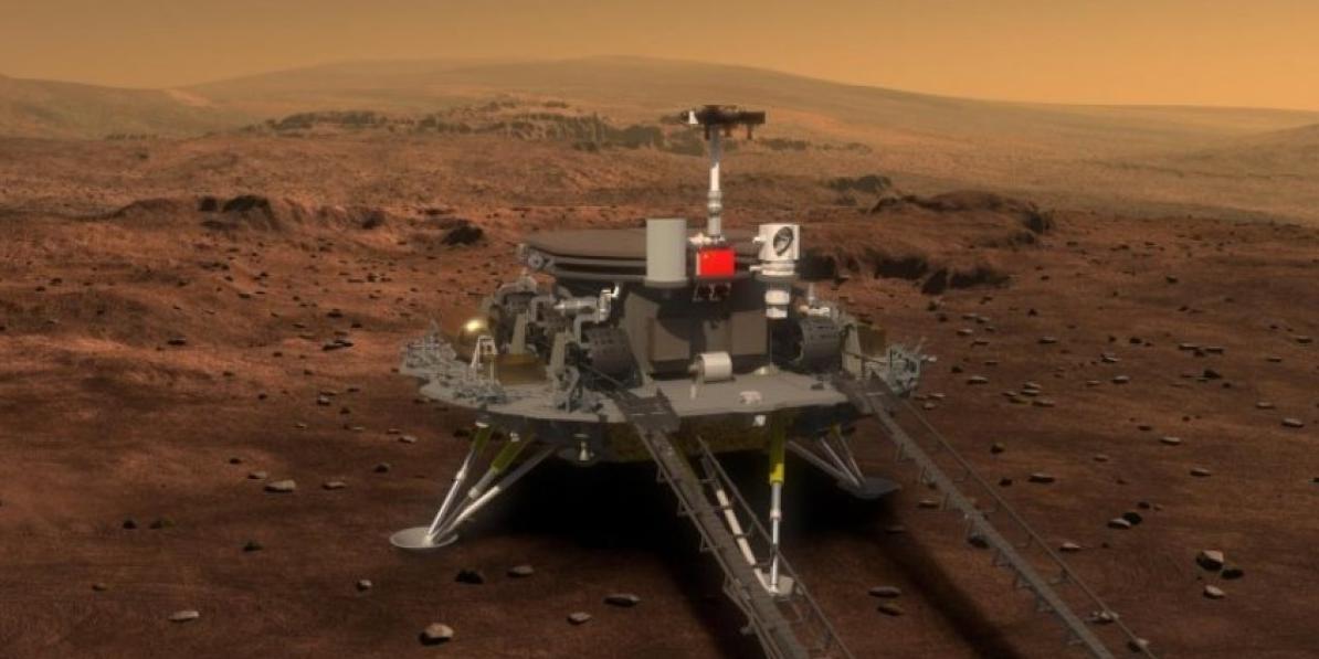 Китайский марсоход прислал панораму Марса и отключился