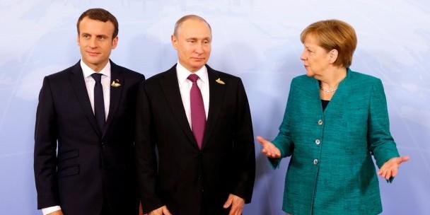 Песков раскрыл подробности встречи Путина, Макрона и Меркель по Украине