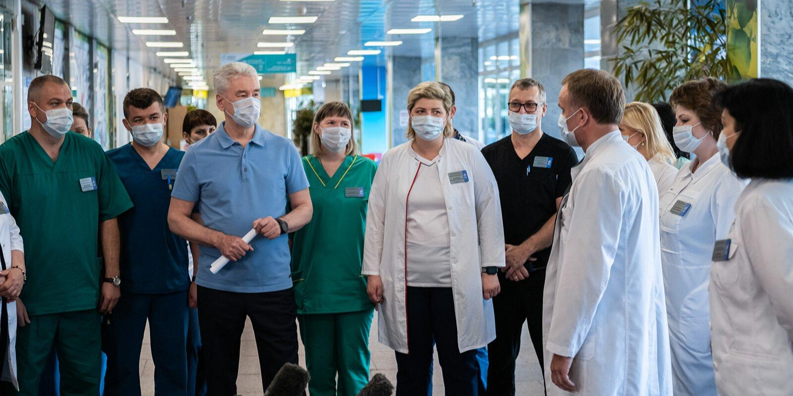 Собянин открыл ковидный стационар в городской больнице № 15 имени Филатова