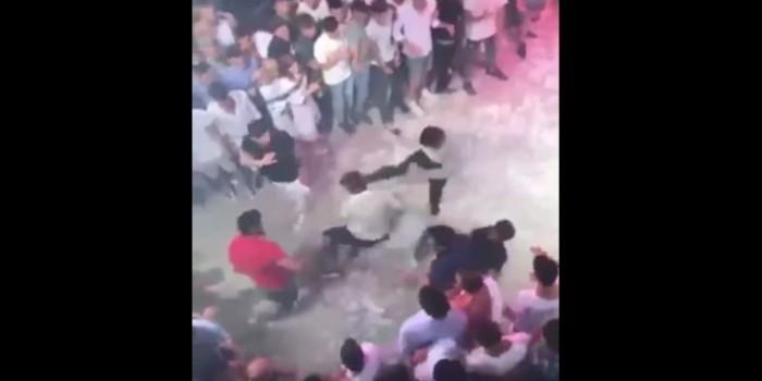 Появилось видео нападения троих россиян на итальянца в Испании