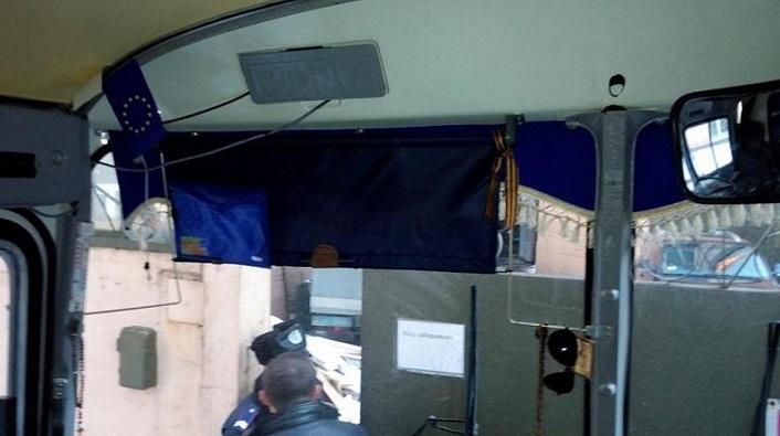 Водителя в Киеве вызвали на допрос из-за георгиевской ленточки в салоне автобуса