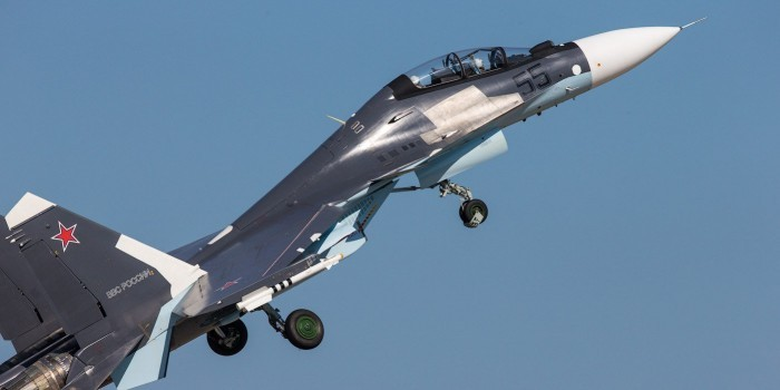 Су-30СМ сбил крылатую ракету над Черным морем