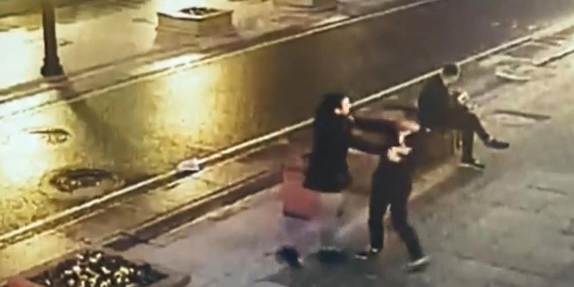 Появилось видео избиения мужчины самбистом Шараевым в Москве
