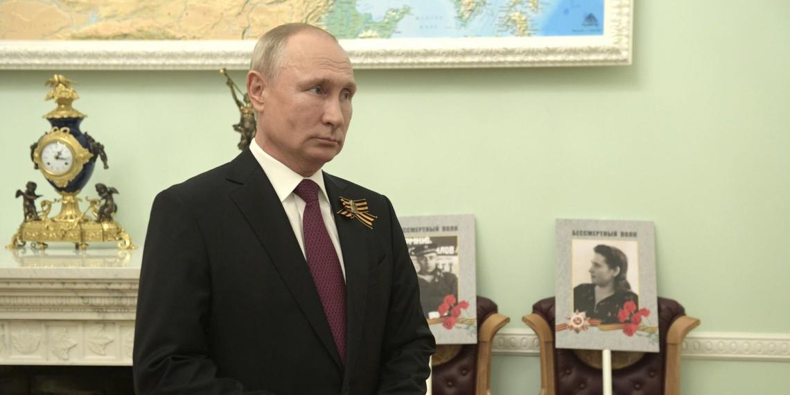 """Путин обратился к участникам онлайн-акции """"Бессмертный полк"""""""